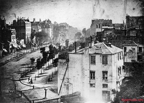 World's oldest photographs. Boulevard du Temple by Daguerre