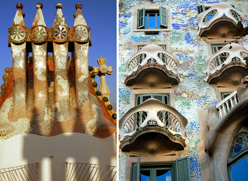 Casa Batllo - renowned building located in the heart of Barcelona, one of Antoni Gaudí's masterpieces.