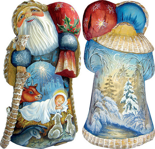 Christmas decoration by 'DeBrekht Artistic Studio Russian Santas'. Painting by Russian artists Andrew and Vicka Gabriht