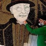Coffee beans mosaic