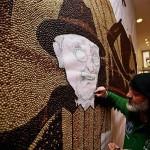 Unique Coffee beans mosaic