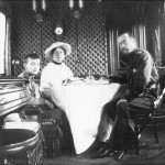 Emperor Nicholas II with his wife and son.
