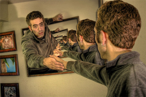 Endless mirror. Photo art by American photographer and photo illustrator Josh Sommers