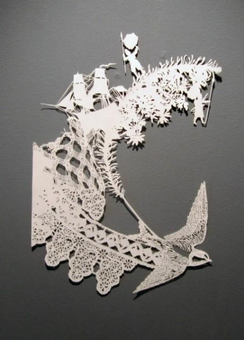 Filigree Paper Cut by Australian artist Emma Van Leest