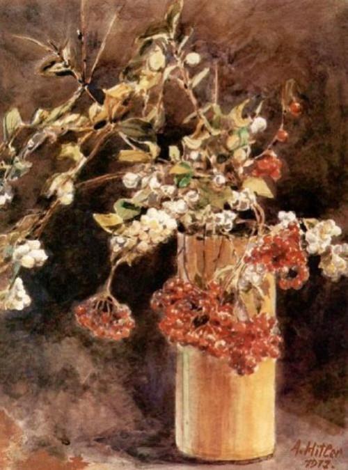 Adolf Hitlers paintings. Flowers in a Vase 1912