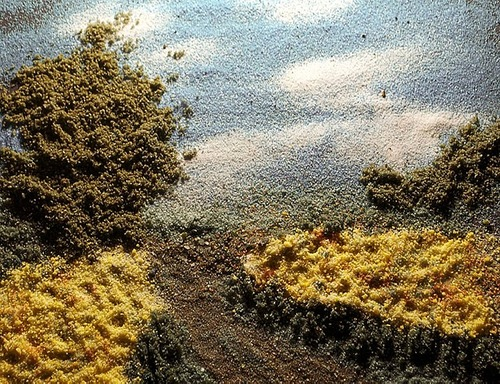 Golden Field. Painting with Salts and Spices by photographer Kelly McCollam