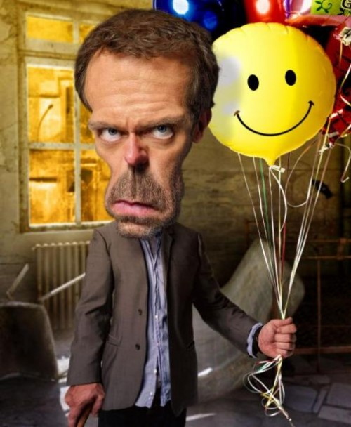 Hugh Laurie house. Caricatures by American artist Rodney Pike