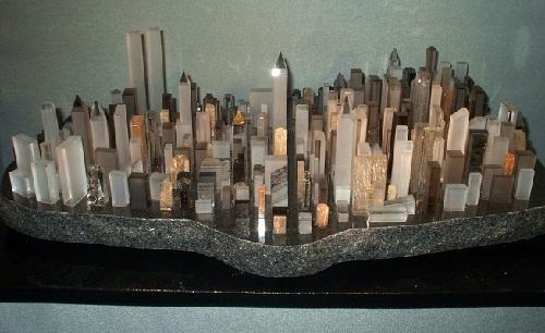 Layout of Manhattan NYC of tourmaline, Crystal Museum in Riedenburg