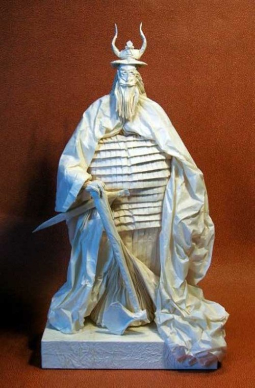 Lord of the Rings paper sculpture by French origami artist Eric Joisel