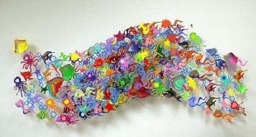 Metal sculptures by artist David Kracov