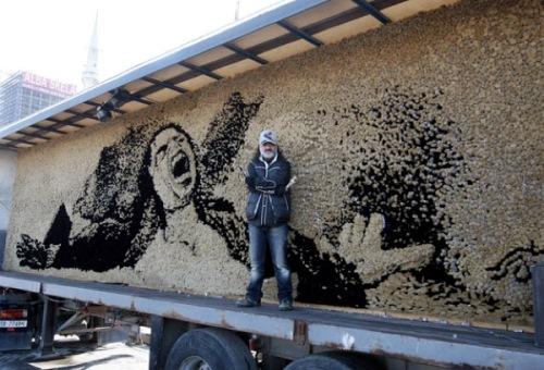 Michael Jackson. World Largest Mosaics by Saimir Strati