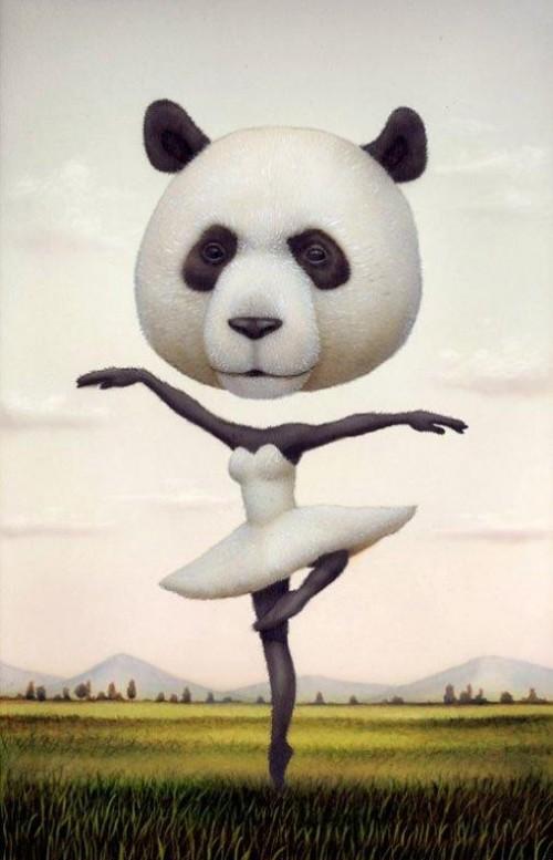 Painting by Japanese artist Naoto Hattori