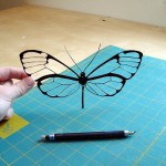 Fragile butterfly. Papercuts by American self-taught artist Joe Bagley