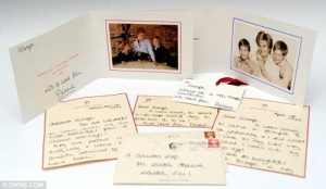 Princess Diana - rare letters and cards