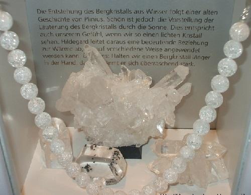 Pure quartz, traditionally - rock crystal