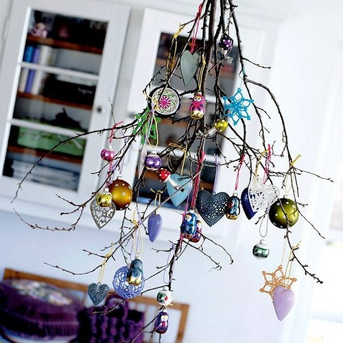 Scandinavian Christmas home decorations