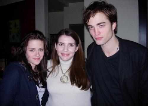 Stephenie Meyer with Rob and Kristen. Twilight popularity