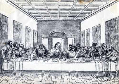 The Last Supper. Typewriter Art by Paul Smith