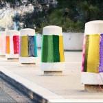 Beautiful Art installation Urban Knitting