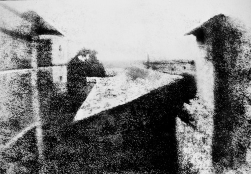 This image – called 'View from the Window at Le Gras' – is reckoned to be the first ever taken, dated at around 1826