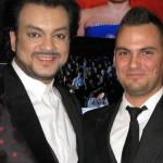 Pop singer Filipp Kirkorov and Vladimir Trezubov