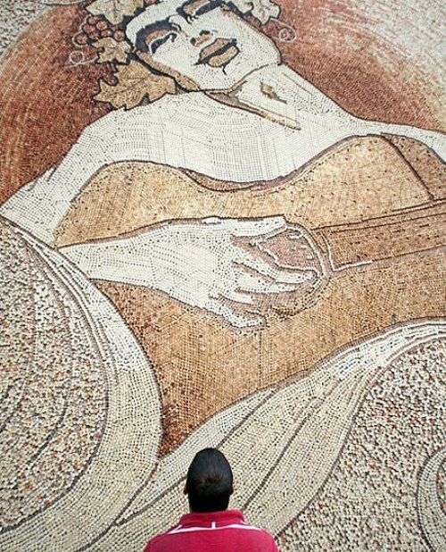 World Largest Mosaics by Saimir Strati - the guitar player by Albanian mosaic artist Saimir Strati