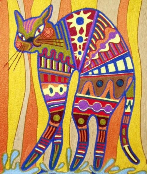 Thread painting by Russian artist Eleanor Sidorova