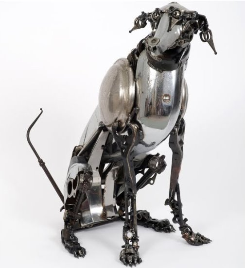Metal sculptures by James Corbett