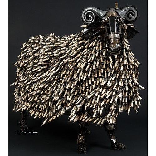 Metal sculptures by James Corbett