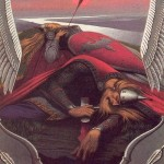 Fallen hero. Painting by Russian artist Konstantin Vasilyev