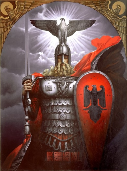 Painting by Russian artist Konstantin Vasilyev
