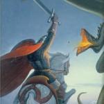 To kill a dragon. Painting by Russian artist Konstantin Vasilyev
