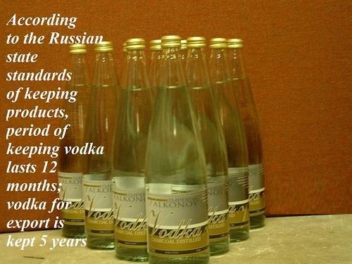 period of keeping vodka