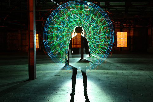 Light paintings by American amateur photographer Wes Whaley