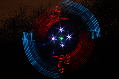 Light paintings by Wes Whaley
