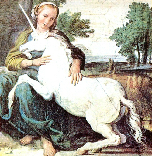 The ancient Greeks first mentioned about Unicorn, an extremely wild woodland creature, a symbol of purity and grace, which could only be captured by a virgin.