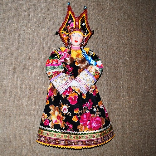 Doll in a Russian folk costume