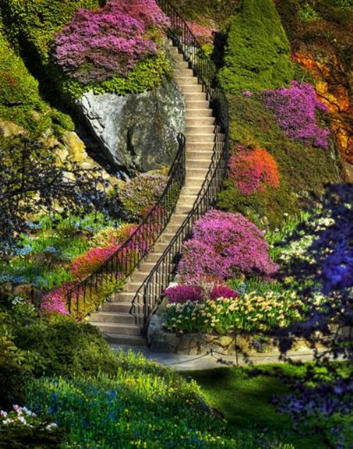Most Beautiful Gardens in the World. Butchart Gardens