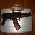 A gun suitcase based on AKS-74U, it lets transport secretely the gun such as AKS – 74U or a hunting semi-automatic carbine Vulkan – TK 5,45х39.
