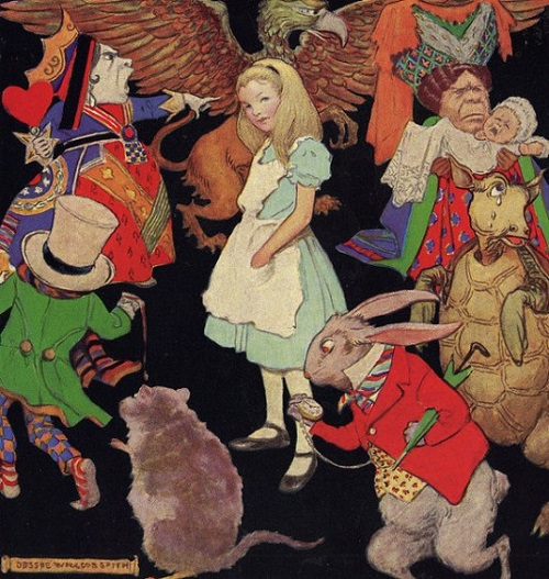 Alice In Wonderland by Jessie Willcox Smith, American Golden Age Illustrator, 1863-1935