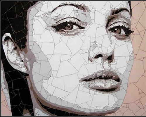 Angelina Jolie. Beautiful Mosaic portraits by Ed Chapman