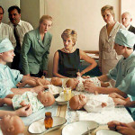 Meeting in the Tushinskaya Children's Hospital. Princess Diana with the personnel
