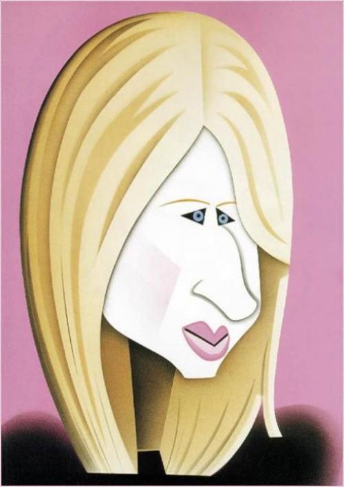 Barbra Streisand. Caricatures by Robert Risko