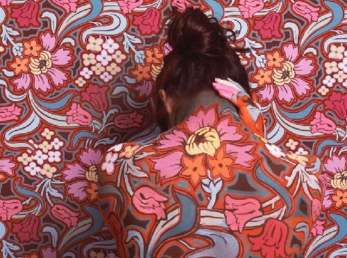 Camouflage artwork by Peruvian artist Cecilia Paredes