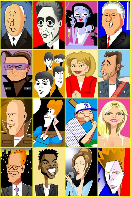 Caricatures by Robert Risko