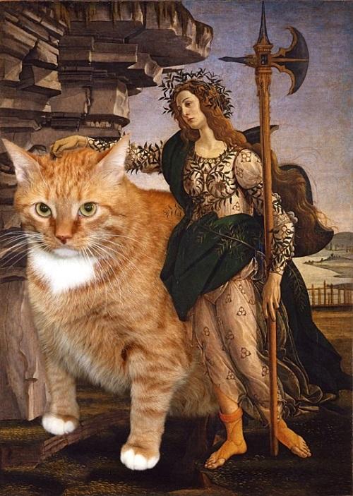 Cats rule the world. Fat cat Zarathustra