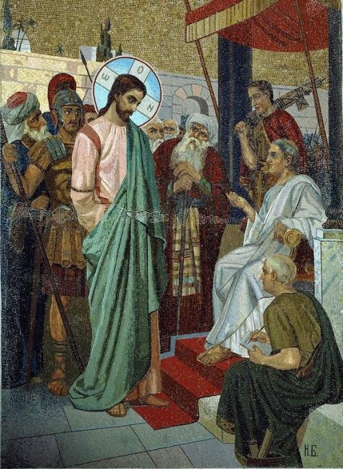 Christ and Pilate (artist Bodarevsky)