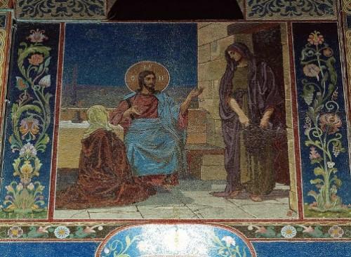 Christ in the House of Martha and Mary (artist VV Belyaev)
