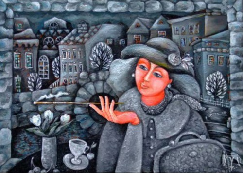 Citizen. Painting by Russian artist Marina Hintse