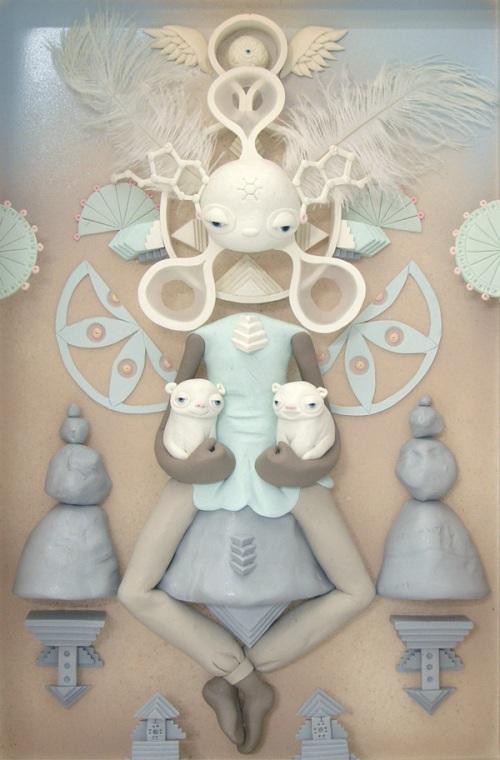 Clay art by American artist Meredith Dittmar